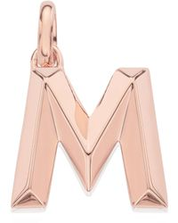 Monica Vinader Rose Gold Plated Vermeil Silver Alphabet Pendant A-z - Pink