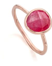 Monica Vinader Siren Stacking Ring - Pink