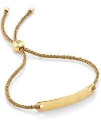 Monica Vinader Linear 18ct Gold-plated Woven Friendship Bracelet - Metallic