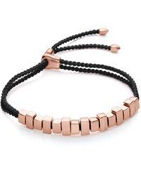Monica Vinader Linear Ingot Bracelet - Black