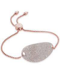 Monica Vinader Nura Diamond Friendship Chain Bracelet - Metallic
