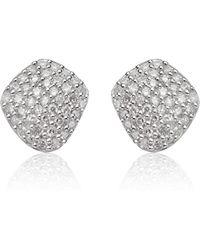 Monica Vinader - Nura Nugget Stud Diamond Earrings - Lyst