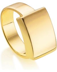 Monica Vinader - Linear Large Plain Ring - Lyst