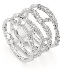 Monica Vinader - Riva Waterfall Cocktail Diamond Ring - Lyst
