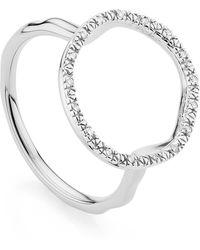 Monica Vinader Riva Circle Diamond Ring - Metallic