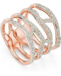 Monica Vinader Riva Waterfall Cocktail Diamond Ring - Multicolour