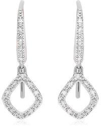 Monica Vinader Riva Mini Kite Drop Diamond Earrings - Metallic