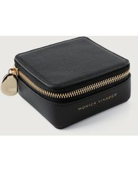Monica Vinader Leather Jewelry Box - Black