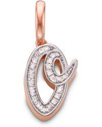 Monica Vinader - Diamond Alphabet Pendant O - Lyst