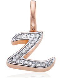 Monica Vinader - Alphabet Z Diamond Pendant Charm - Lyst
