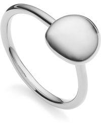 Monica Vinader - Nura Small Pebble Stacking Ring - Lyst