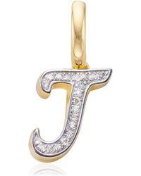 Monica Vinader - Diamond Alphabet Pendant F - Lyst