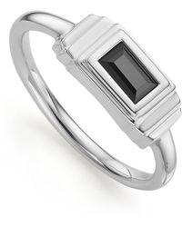 Monica Vinader Baja Deco Ring - Metallic