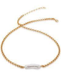 Monica Vinader Nura Biwa Pearl Necklace - Multicolour