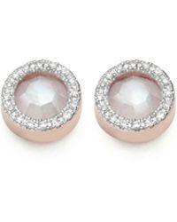 Monica Vinader | Naida Circle Stud Earrings | Lyst