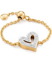 Monica Vinader Alphabet Heart Adjustable Friendship Diamond Ring - Metallic