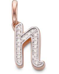 Monica Vinader - Diamond Alphabet Pendant N - Lyst