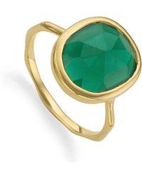 Monica Vinader Siren Medium Stacking Ring - Green