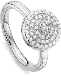 Monica Vinader - Fiji Large Button Stacking Ring - Lyst