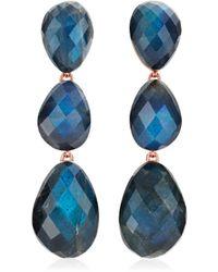 Monica Vinader Nura Triple Teardrop Earrings - Limited Edition - Multicolour