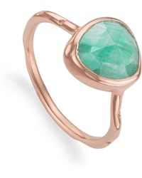 Monica Vinader | Siren Stacking Ring | Lyst