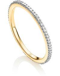 Monica Vinader Skinny Eternity Diamond Ring - Metallic
