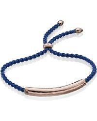 Monica Vinader Esencia Friendship Bracelet - Blue