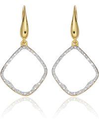 Monica Vinader - Riva Diamond Hoop Earrings - Lyst