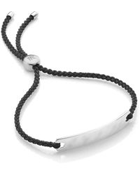 Monica Vinader Havana Mini Friendship Bracelet - Black
