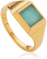 Monica Vinader Signature Signet Gemstone Ring - Multicolour