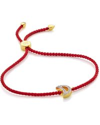 Monica Vinader Rio Friendship Bracelet - Metallic
