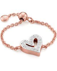Monica Vinader Alphabet Heart Adjustable Friendship Diamond Ring - Multicolor