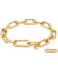 Monica Vinader - Alta Capture Gold Vermeil Charm Bracelet - Lyst