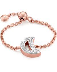 Monica Vinader Alphabet Moon Adjustable Friendship Diamond Ring - Multicolor