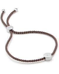 Monica Vinader Linear Solo Friendship Diamond Bracelet - Multicolour