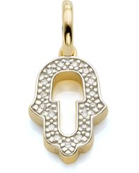 Monica Vinader - Alphabet Hamsa Diamond Pendant Charm - Lyst