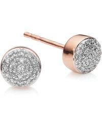 Monica Vinader Fiji Mini Button Stud Earrings