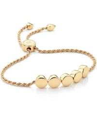 Monica Vinader Linear Bead 18ct Yellow-gold Plated Friendship Bracelet - Metallic