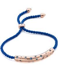 Monica Vinader Esencia Scatter Friendship Bracelet - Blue