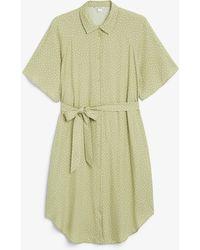 Monki Midi Shirt Dress - Green