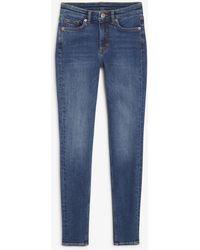 Monki Mocki Mid Blue Jeans