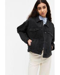 Monki Oversized Denim Jacket - Black