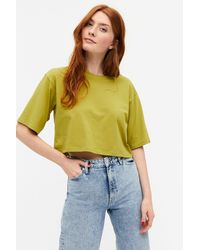 Monki Cropped Tee - Green