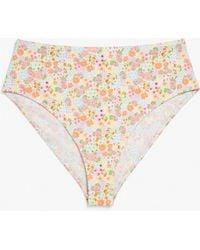 Monki High-waist Bikini Briefs - Multicolour
