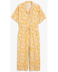 Monki Oversize-Jumpsuit - Gelb