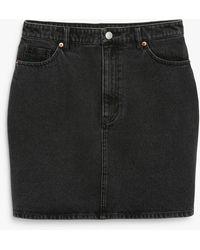Monki Denim Mini Skirt - Black