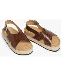 Monki Slingback Platform Sandals - Brown
