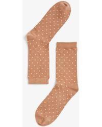Monki Glänzende Socken - Orange