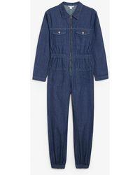 Monki Denim Boilersuit - Blue