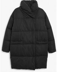 Monki Oversized Puffer Coat - Black